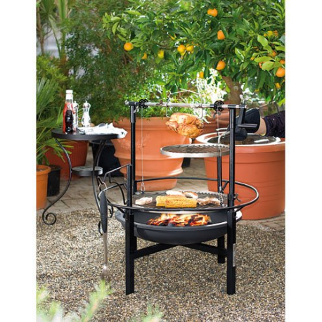 barbecue charbon xxl tr s solide 64 cm avec 2 grilles. Black Bedroom Furniture Sets. Home Design Ideas