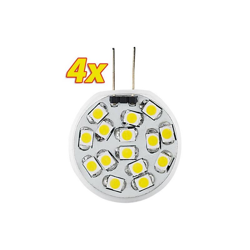 4 ampoules 15 led g4 blanc froid. Black Bedroom Furniture Sets. Home Design Ideas
