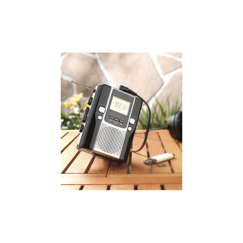 baladeur audio avec convertisseur cassette vers mp3. Black Bedroom Furniture Sets. Home Design Ideas