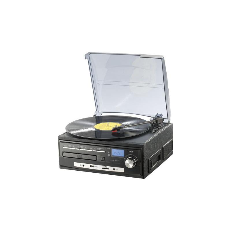 mini cha ne hi fi avec tourne disque lecteur k7 lecteur cd radio entr e aux ports usb et sd. Black Bedroom Furniture Sets. Home Design Ideas