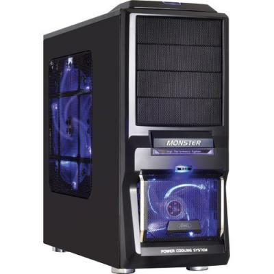 Boîtier PC Gamer avec Ventilation silencieuse - Compatible avec le Watercooling - Noir bleuté