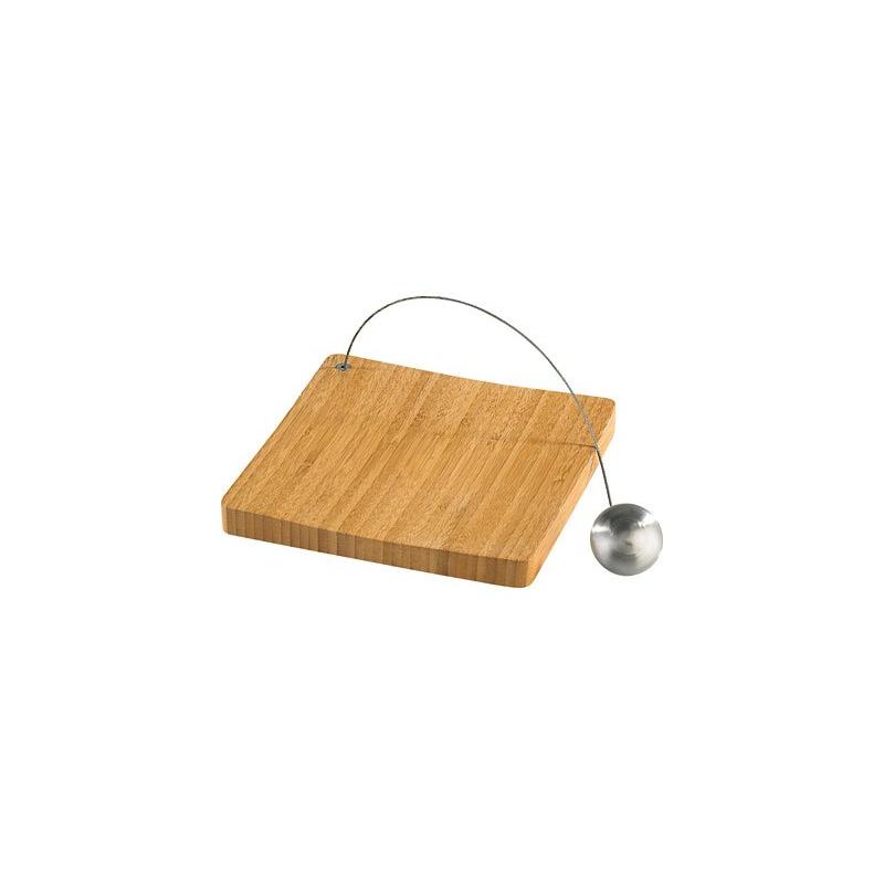 Porte serviette de table avec plateau en bois de bambou for Plateau de table bois