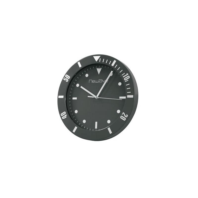 horloge murale design noire. Black Bedroom Furniture Sets. Home Design Ideas