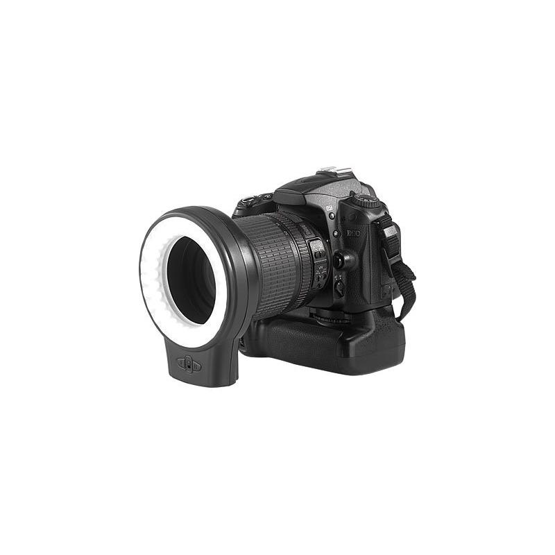 lampe ronde led pour photo et vid o 60 led se fixe sur le sabot du flash ou l 39 objectif. Black Bedroom Furniture Sets. Home Design Ideas