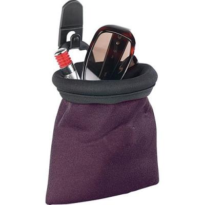 Petite poche de rangement pour véhicule avec fixation à la grille de ventilation