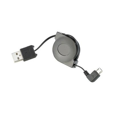 Adaptateur USB 2.0 Mâle Type A vers Micro-USB avec enrouleur - 0,8 m