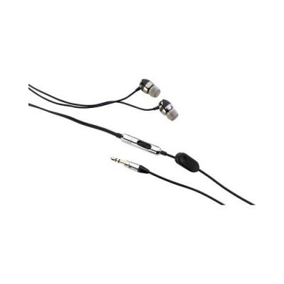 Écouteurs en aluminium ultra résistant avec contrôle du volume sur le câble