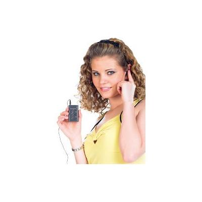 Amplificateur Auditif avec oreillettes, sacoche et clip de fixation fournis