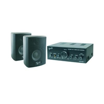 2 enceintes 2 x 60W + amplificateur - Noir
