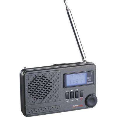 Récepteur radio mondial, réveil et lecteur MP3 autonome