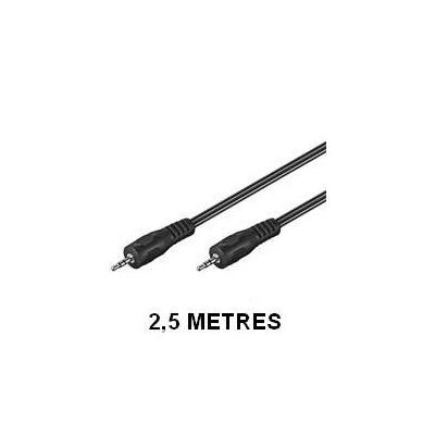 Câble audio Jack 3,5 mm mâle - mâle - 2,5 m