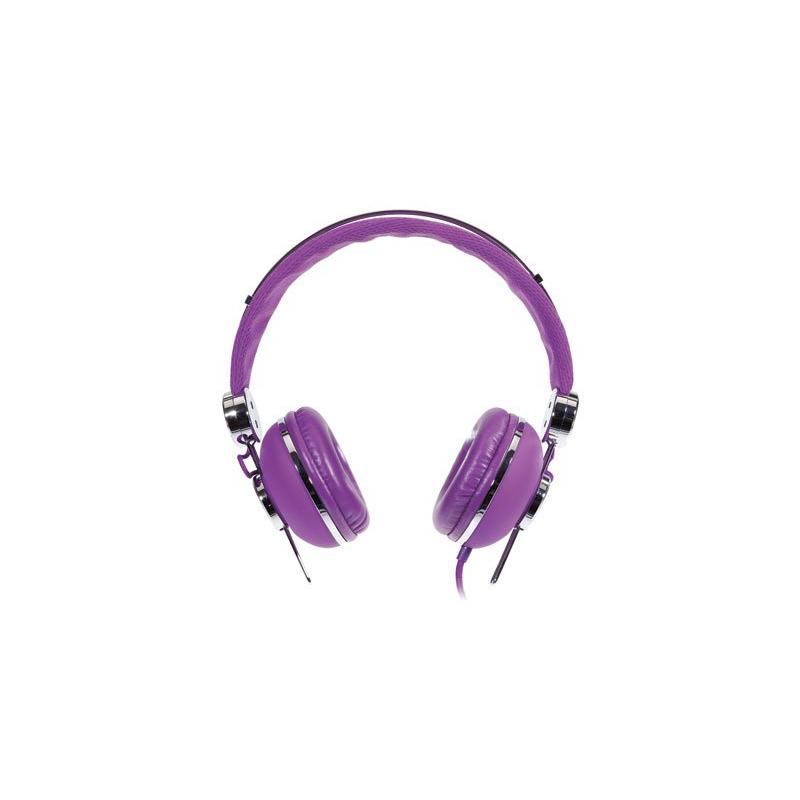 casque st r o avec microphone int gr kit mains libres violet. Black Bedroom Furniture Sets. Home Design Ideas