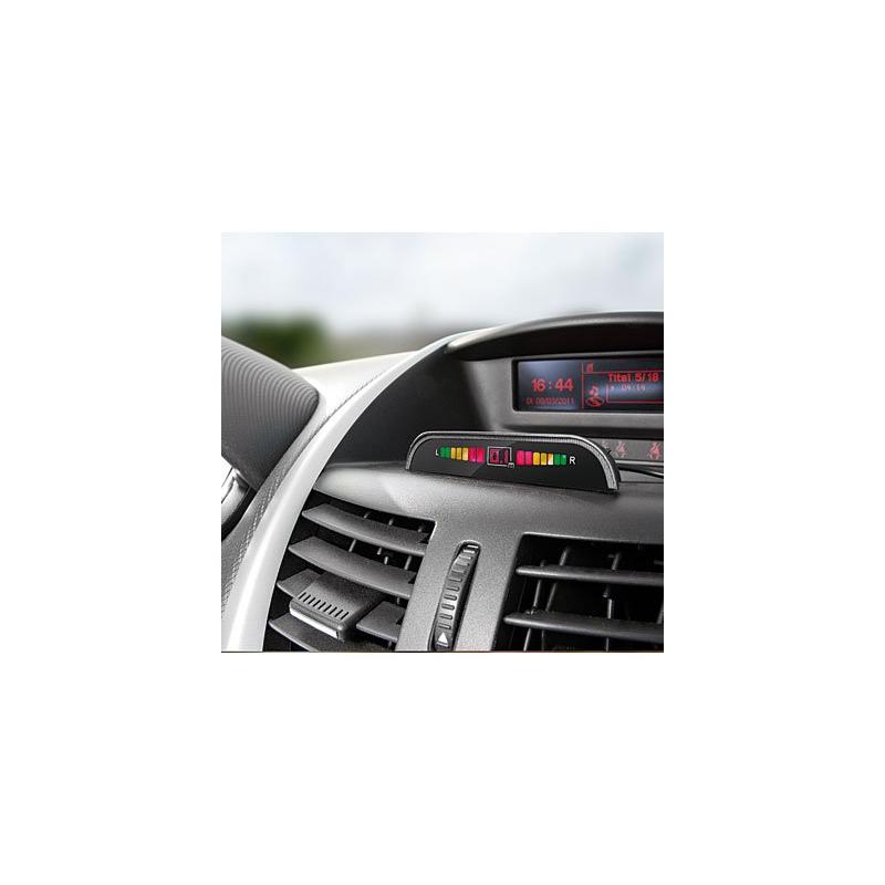 kit complet radar de recul avec 6 capteurs sans fil cran tableau de bord technologie. Black Bedroom Furniture Sets. Home Design Ideas