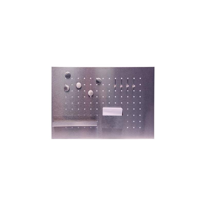tablette en inox avec aimants fournis. Black Bedroom Furniture Sets. Home Design Ideas