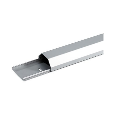 Passe câble en aluminium gris