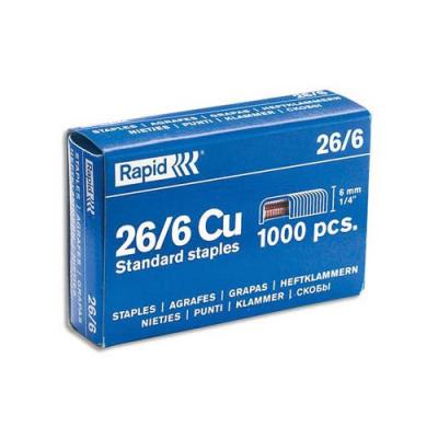 1000 Agrafes galvanisées - Hauteur 6 mm