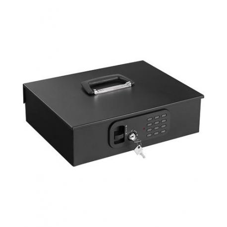 Caisse à monnaie sécurisé à clés et à codes avec plateau de tri