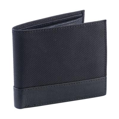Porte-cartes en cuir et nylon