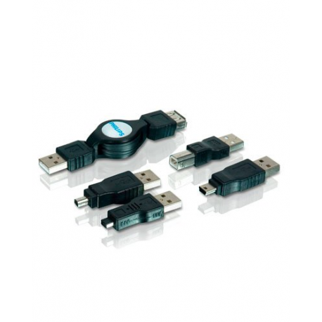 adaptateur usb r tractable avec enrouleur mini usb micro usb usb b philips. Black Bedroom Furniture Sets. Home Design Ideas