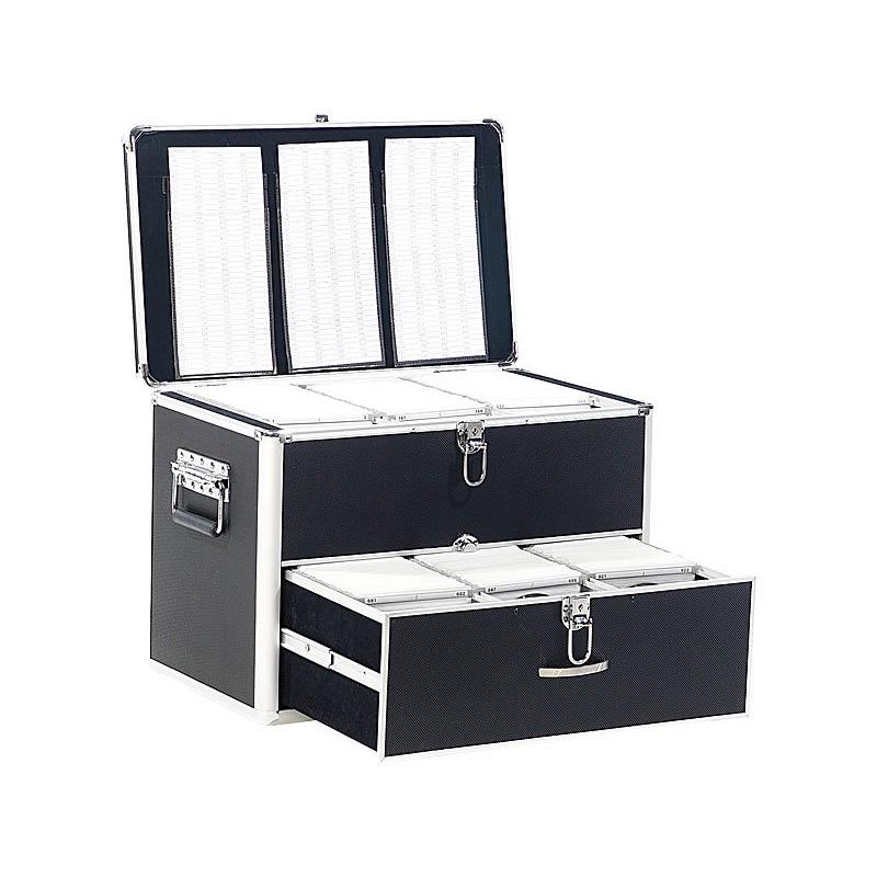 malette de rangement pour 1000 cd ou dvd. Black Bedroom Furniture Sets. Home Design Ideas