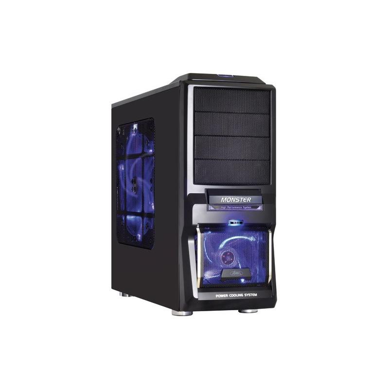 bo tier pc gamer avec ventilation silencieuse compatible avec le watercooling noir bleut. Black Bedroom Furniture Sets. Home Design Ideas