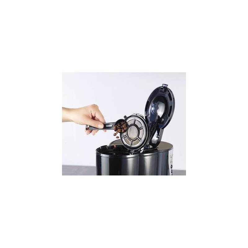 cafeti re lectrique avec moulin int gr programmation de l 39 heure voulue pour pr parer le caf. Black Bedroom Furniture Sets. Home Design Ideas