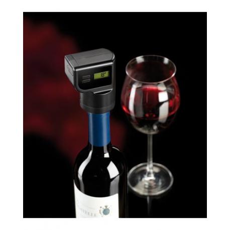 bouchon lectrique vide dans une bouteille de vin avec thermom tre cran int gr et minuteur. Black Bedroom Furniture Sets. Home Design Ideas