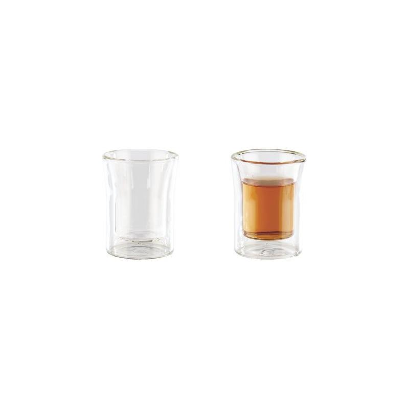 6 verres shooters double paroi 4 5 cl. Black Bedroom Furniture Sets. Home Design Ideas