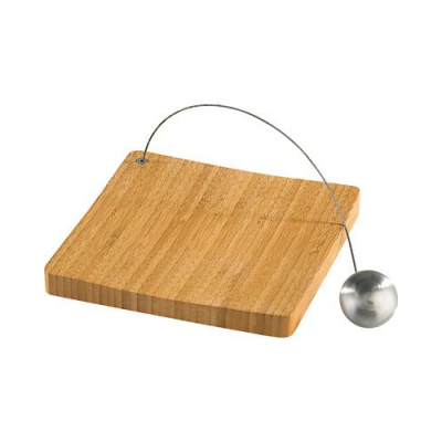 porte serviette de table avec plateau en bois de bambou. Black Bedroom Furniture Sets. Home Design Ideas