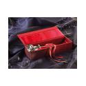 Rose en plaqué argent 999/1000 dans son écrin - Amour - St Valentin