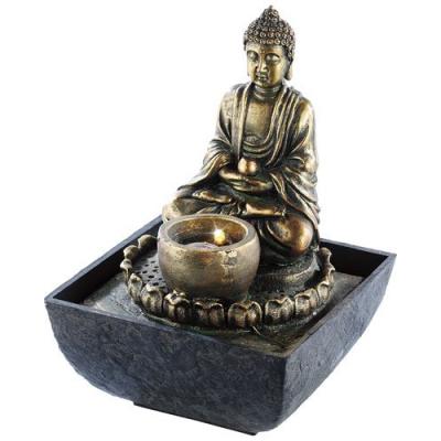 Fontaine d'intérieur lumineuse Bouddha ambiance apaisante