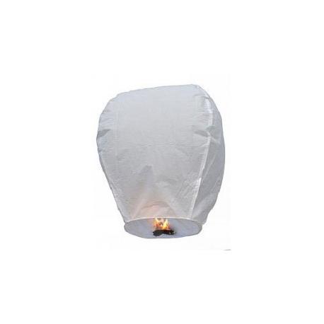 Lanterne volante porte-bonheur blanche tradition asiatique