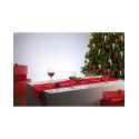 Chemin de table festif à 20 LED - rouge pour décoration table