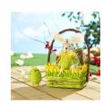 Panier de Pâques décoratif avec lapin et poules