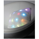 Coussin de décoration doux à LED en fausse fourrure
