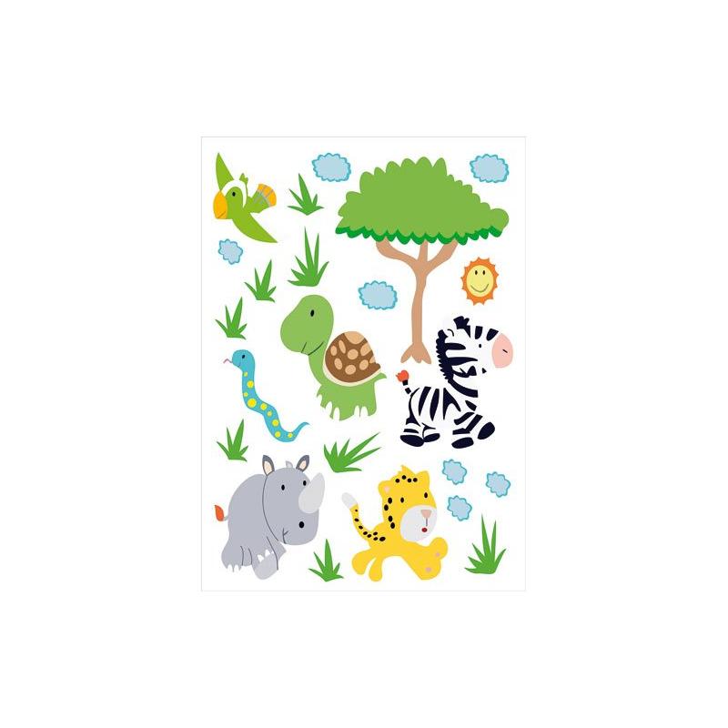 Autocollants stickers muraux pour chambre enfants afrique - Stickers muraux chambre enfant ...