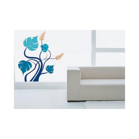 Autocollant - Stickers mural tendance - Arbre bleu