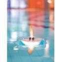 Torche décorative flottante au bioéthanol pour bassin ou piscine