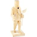 Brûle-encens en forme de Bûcheron en bois sculpté à la main