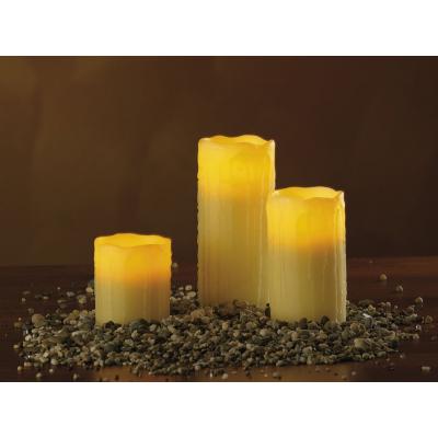 3 Bougies en cire à LED pour une ambiance romantique