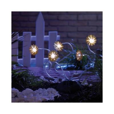 5 tournesols lumineux solaire - 40 cm de hauteur