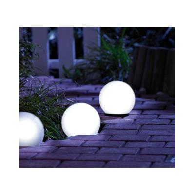 Boule lumineuse d'extérieur pour jardin ou terrasse de 16 couleurs différentes - Diamètre : 9 cm