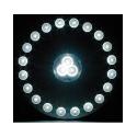 Lampe 24 LED avec fixation magnétique pour le camping / Vacances - Télécommande infrarouge fournie