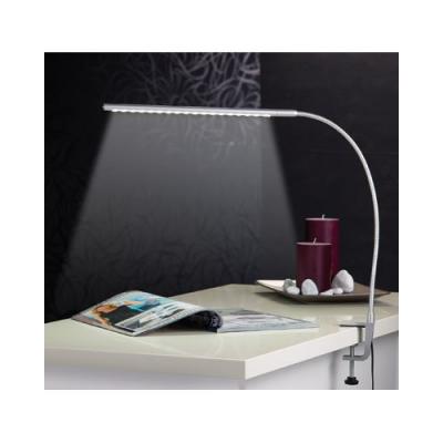 Lampe de bureau avec col de cygne orientable à LED