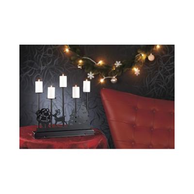 Chandelier en métal à LED pour Noël
