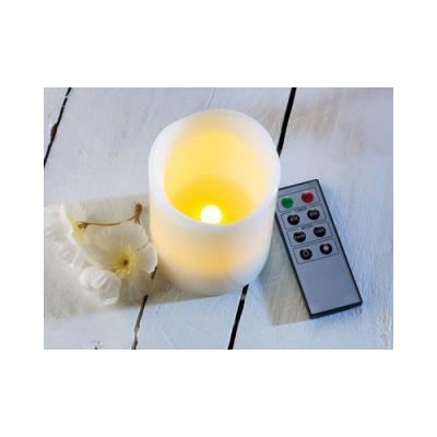 3 Bougies à LED électrique télécommandées avec minuteur - Flammes
