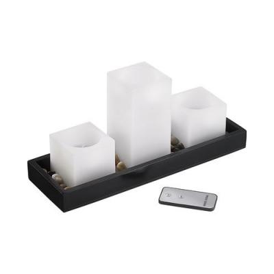 3 bougies à LED en cire véritable sans flamme avec télécommande