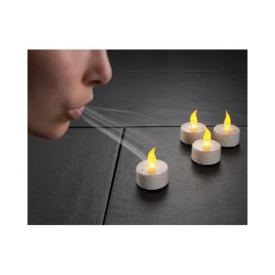4 Bougies à LED sans flammes - souffler pour allumer