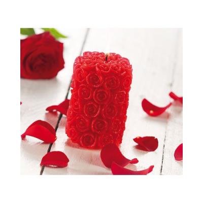 Bougie design en forme de rose et parfumée