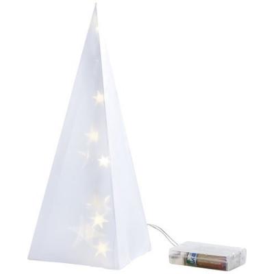 Lampe en papier pyramidale étoilée - Blanc